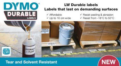 DYMO Durable Labels - LW durable labels last on demanding surfaces
