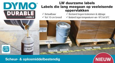DYMO Durable Labels - LW durable labels last on demanding surfaces